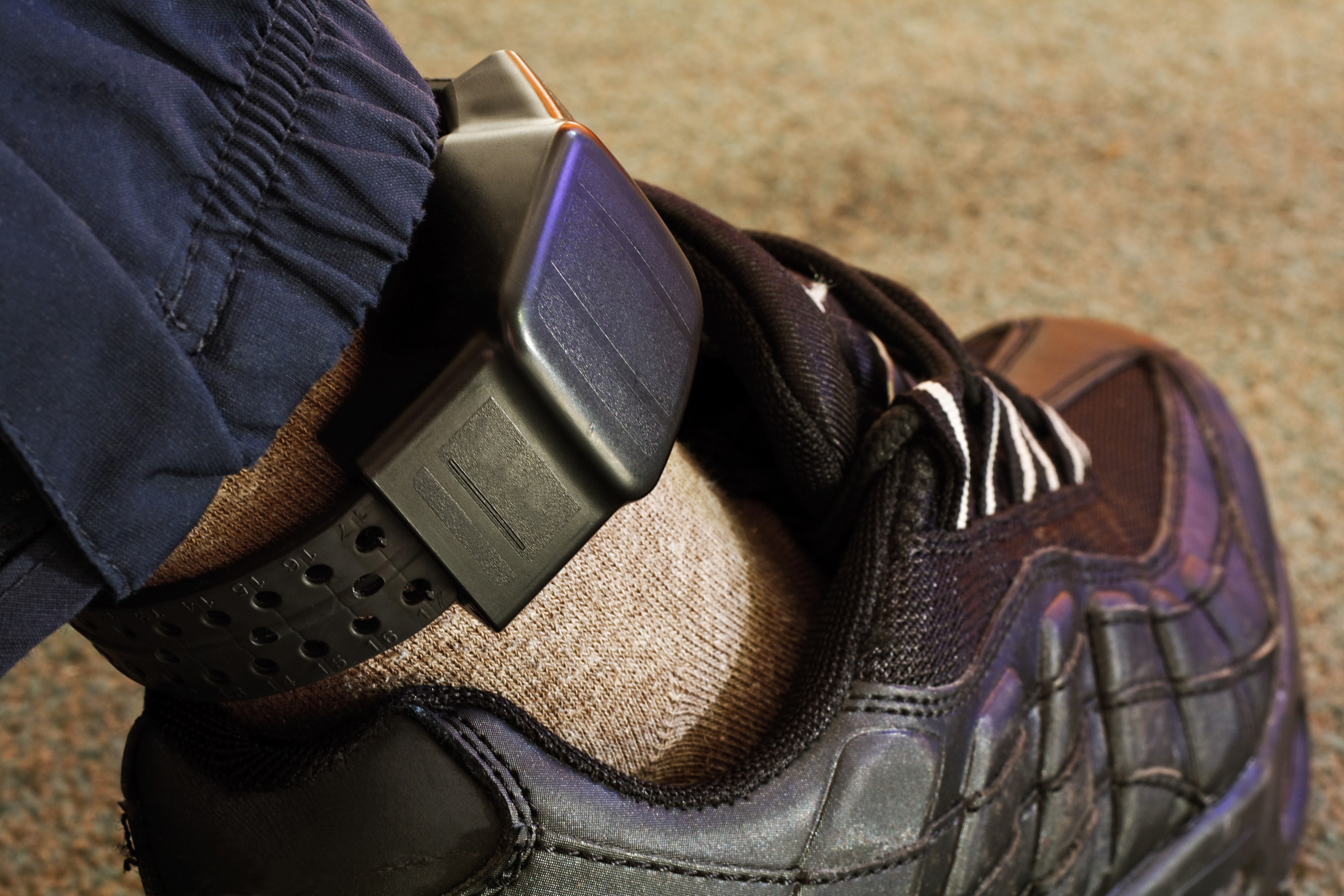 Monitoring bracelet is commonly used in probation